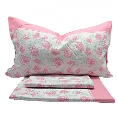 Completo letto Matrimoniale Flower Pink